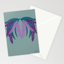 Under the Purple Mimosa Stationery Cards