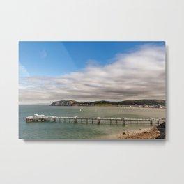 Llandudno Pier Metal Print