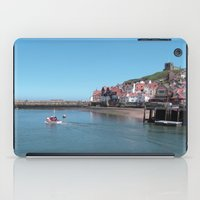 postcard iPad Cases featuring Whitby Postcard by Sarah Couzens