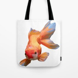 Golden Fish Lowpoly Art Illustration Tote Bag