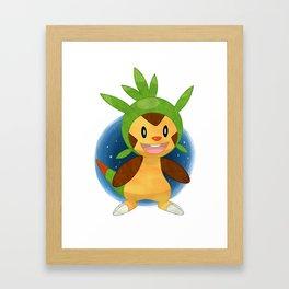 Chespin Pokémon Framed Art Print