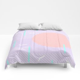 Memphis Summer Lavender Waves Comforters