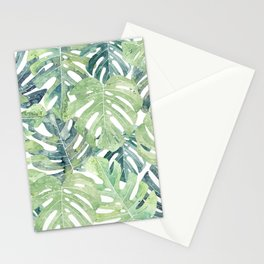 Tropical Leaves Monstera leaves Jungle leaves Stationery Cards