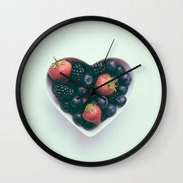 Beautiful Food by Jamie Street Wall Clock