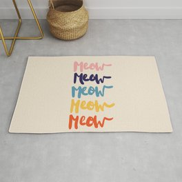 Meow Meow says the cat - typography Rug