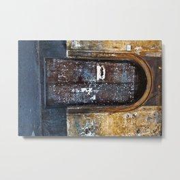 Old Sicilian door of Catania Metal Print