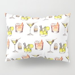 Watercolor Party Drinks- Adult Beverages Pillow Sham