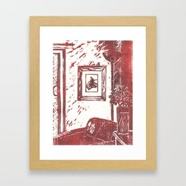 Uncomfortable with an Exit Framed Art Print
