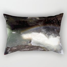 Box Canyon Falls - Rainbow on the Mist Rectangular Pillow