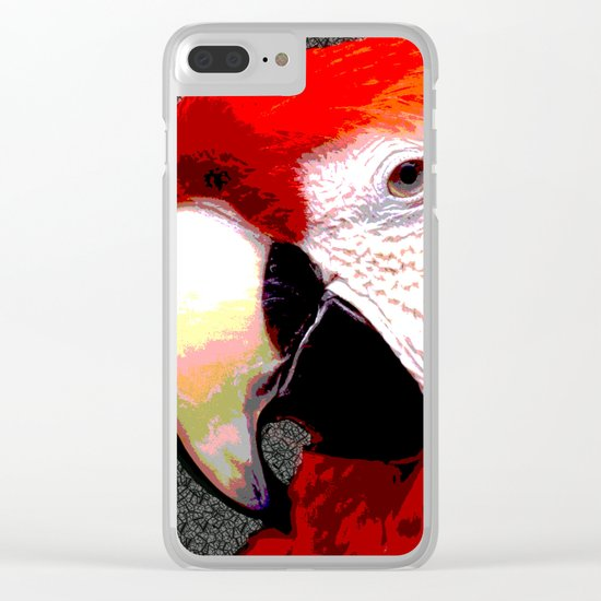 Parrot Face Clear iPhone Case