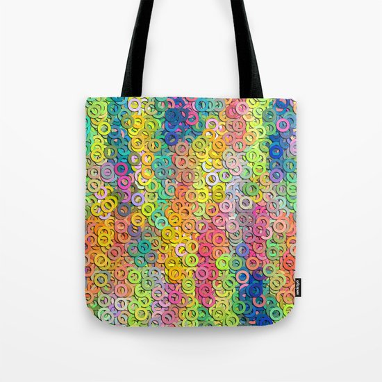 Little colorful rings Tote Bag