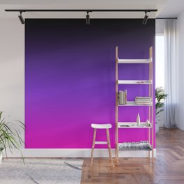 Black Purple and Neon Pink Ombre Wall Mural