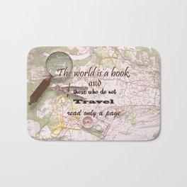 travel quote Bath Mat