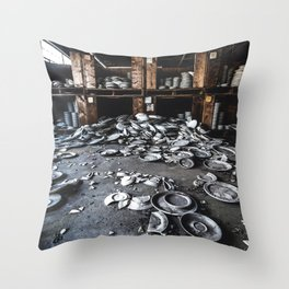 Dirty Dishes Throw Pillow