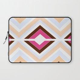 Mod stripes in raspberry Laptop Sleeve