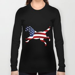 Independence Day USA Funny Dog Gifts Long Sleeve T-shirt