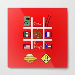 #CincoDeMayo Metal Print