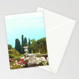 sea view from the park Stationery Cards