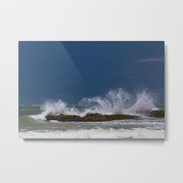 Furious Sea Metal Print