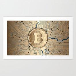 Bitcoin Miner Art Print