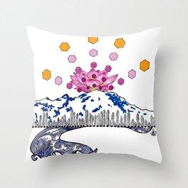 Bask! Throw Pillow