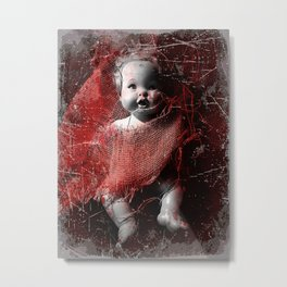 Scary Dolly Metal Print