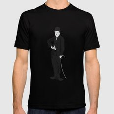 Charlie Chaplin Mens Fitted Tee Black MEDIUM