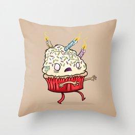 Cupcake zombie 8 Throw Pillow