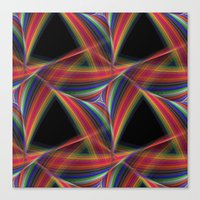 triangles Canvas Prints featuring Triangles by David Zydd