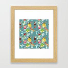 Blue Hawaii Cocktail Hour Framed Art Print