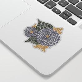 Geometric Flower Sticker