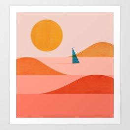 Abstraction_Sailing_Ocean_002 Art Print