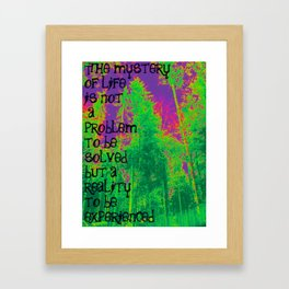 Mystery of Life Framed Art Print