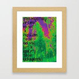 Mystery of Life Framed Art Print