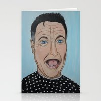 robin williams Stationery Cards featuring Robin Williams Portrait by Tania Allman Art