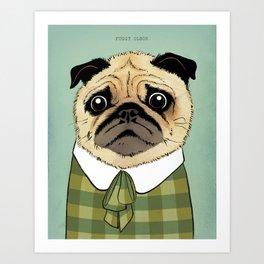 Mad Men Dogs: Puggy Olson Art Print