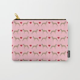 Whippet love hearts dog breed pet portrait whippets pure breed dog gifts Carry-All Pouch