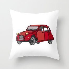 2CV french oldtimer car Throw Pillow