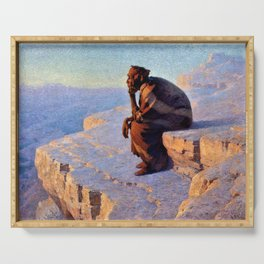 The Great Spirit - Grand Canyon by William R. Leigh Serving Tray