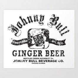 Johnny Bull Ginger Beer Beverage Co. Art Print