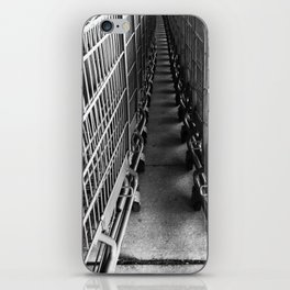 Shopping Cart Abstract in B&W iPhone Skin