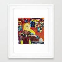 cartoon Framed Art Prints featuring Cartoon by Mira C