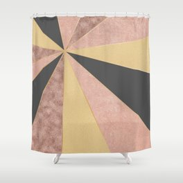 Abstract Geometric Sunrise Shower Curtain