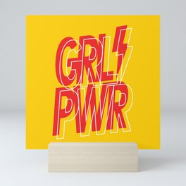 GRL PWR - GIRL POWER 7 - Yellow and Red Mini Art Print