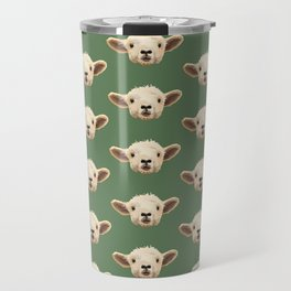 Sweet Lamb in the Barnyard Travel Mug