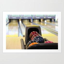 Bowling Pins Art Print