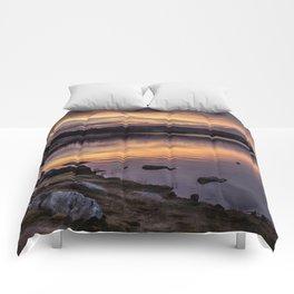 The Derwent Reservoir at sunset Comforters