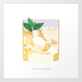 Cocktail Hour: Mint Julep Art Print