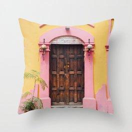 Pink & Yellow Throw Pillow