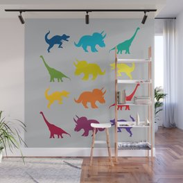 Dino Parade 2 Wall Mural